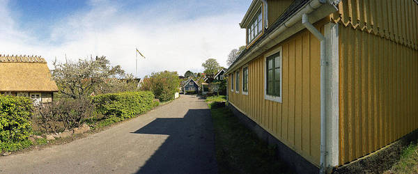 Arild Poster featuring the photograph Yellow Summer House by Jan W Faul