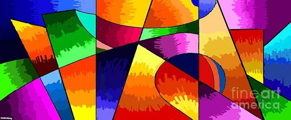 Geometry Poster featuring the painting Geometry Abstract by Moscolexy Moscolexy