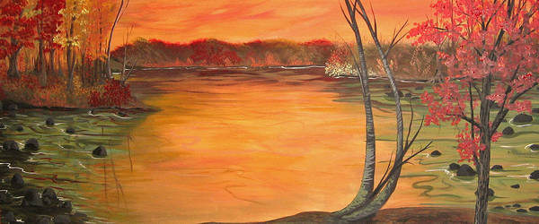 Landscape Poster featuring the painting Untitled by Lori Ulatowski