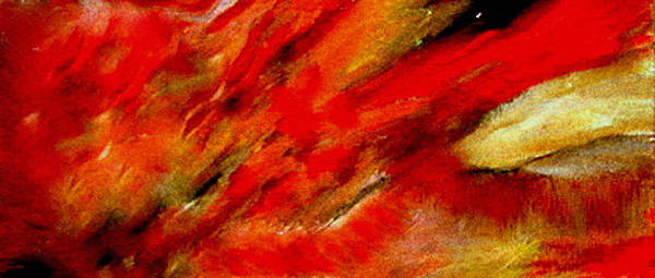 Poster featuring the painting Abstract-simple Red 3 by Sherri's - Of Palm Springs