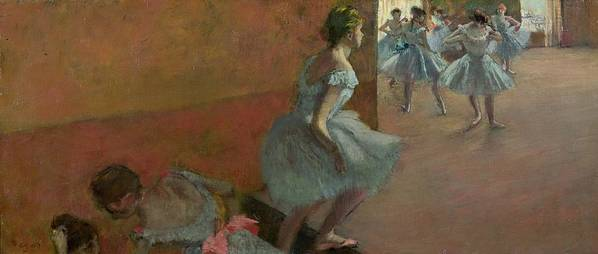 Dancers Poster featuring the painting Dancers Ascending A Staircase by Edgar Degas
