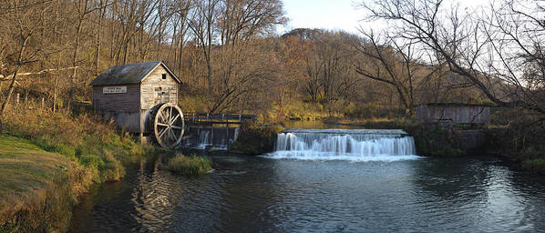 Creek Poster featuring the photograph Hyde Mill Wisconsin by Steve Gadomski