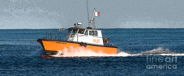 Pilot Boat Poster featuring the photograph Pilot Boat by Grace Grogan