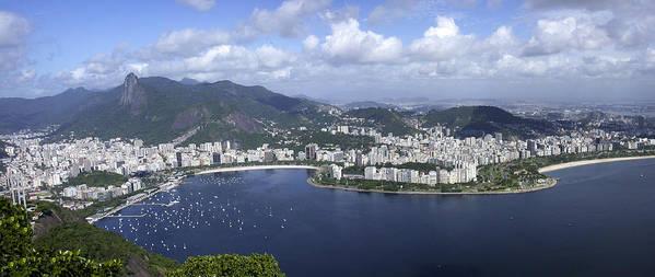 Rio De Janiero Poster featuring the photograph Rio De Janiero Aerial by Sandra Bronstein