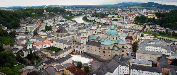 3scape Photos Poster featuring the photograph Salzburg Panoramic by Adam Romanowicz