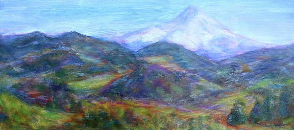 Quin Sweetman Paintings Poster featuring the painting Mountain Patchwork by Quin Sweetman