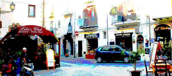 Cityscape Poster featuring the photograph Italian City Street Scene Digital Art by A Gurmankin