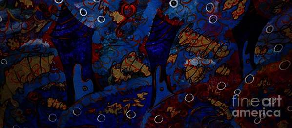 it's A Whirlwind Poster featuring the painting It's A Whirlwind by Donna Daugherty