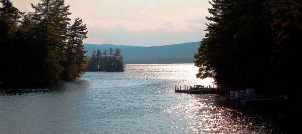 Adirondack's Poster featuring the photograph Small Dock On Lake George by David Patterson