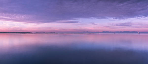 Vermont Poster featuring the photograph Vermont Burlington Lake Champlain Panorama Sunrise by Andy Gimino