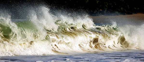 Wave Poster featuring the photograph Powered By Nature by Cedric Darrigrand