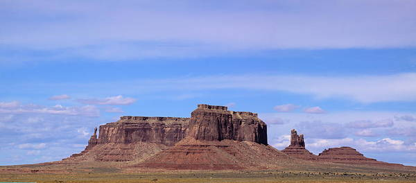 Mesa Poster featuring the photograph Monument Valley Mesa by Viktor Savchenko