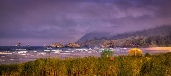 Cannon Beach Poster featuring the photograph Oregon Seascape by David Patterson