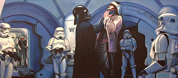 Star Wars Poster featuring the digital art Star Wars Episode 6 Art by Larry Jones