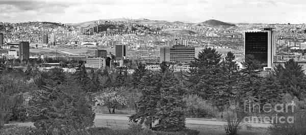 Ankara Turkey Poster featuring the photograph Ankara - Bw by Onie Dimaano