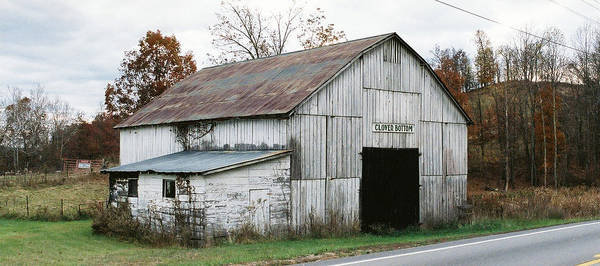 Barn Poster featuring the photograph Barn At Clover Bottom by George Ferrell