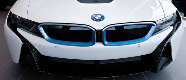 Bmw I8 Poster featuring the photograph Bmw E Drive I8 by Aaron Berg