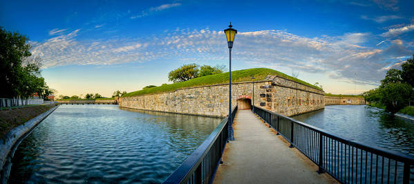 Fort Monroe Poster featuring the photograph Fort Monroe by Williams-Cairns Photography LLC