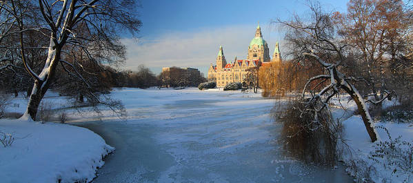 Hanover Poster featuring the photograph Hanover In Winter by Marc Huebner