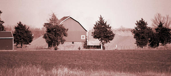 Barn Poster featuring the photograph Iowa Landscape by Jame Hayes