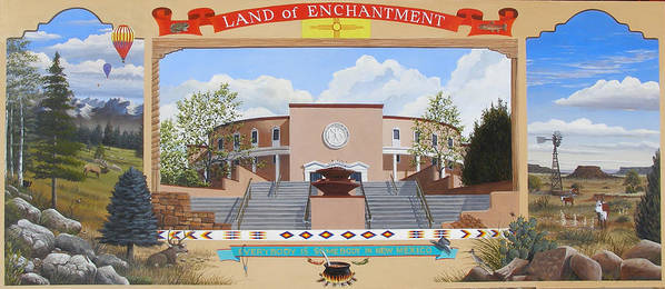 Landscape Poster featuring the painting Land Of Enchantment by Doug Quarles