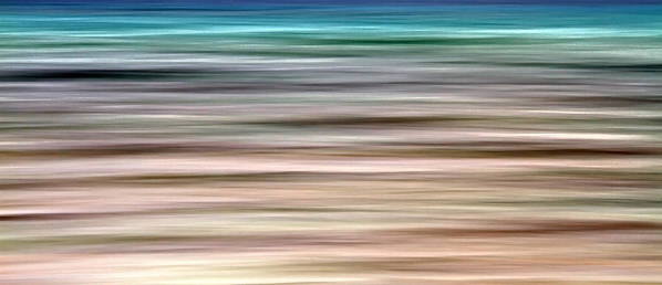 Abstract Poster featuring the photograph Sea Movement by Stelios Kleanthous