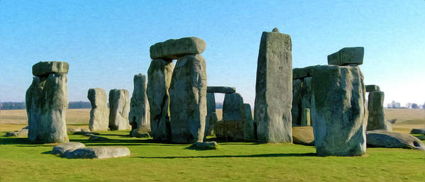 England Poster featuring the photograph Stonehenge by Alan Toepfer