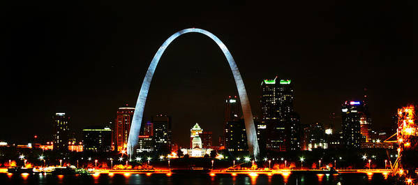 St Louis Poster featuring the photograph The Arch by Anthony Jones