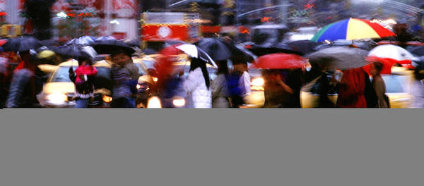 Wet Poster featuring the photograph Umbrellas by Brad Rickerby