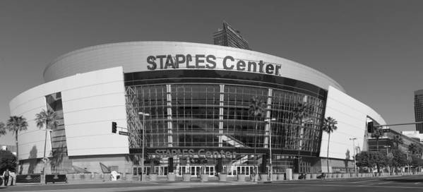 Staples Center Poster featuring the photograph The Staples Center by Mountain Dreams