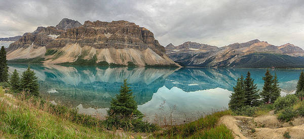 Canada Poster featuring the photograph Bow Lake Pano Banff National Park by Jack Nevitt
