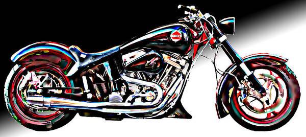 Custom Bike Study 1 Poster featuring the photograph Custom Bike Study 1 by Samuel Sheats
