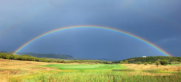 Rainbow Poster featuring the photograph Heber Valley Rainbow by Johnny Adolphson