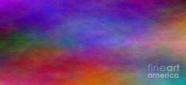 Impressionism Poster featuring the digital art Metallic Plasma Landscape by Judy Powell