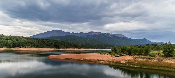 Pikes Peak Poster featuring the photograph Pikes Peak From Crystal Creek Reservoir by Jeff Stoddart