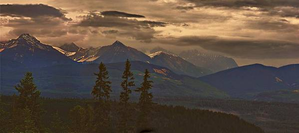 Jann Ashworth Poster featuring the mixed media Sunset In Yoho by Janet Ashworth