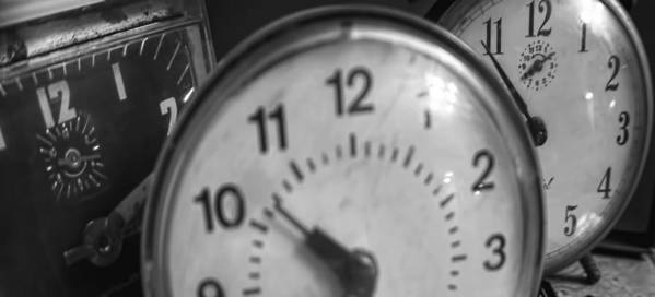 Poster featuring the photograph Tick Tock Goes The Clock 3 by Cathy Anderson