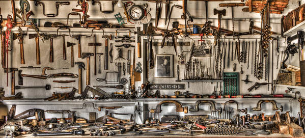 Appalachia Poster featuring the photograph Woodworking Tools by Debra and Dave Vanderlaan