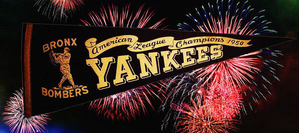 American Poster featuring the photograph Yankees Pennant 1950 by Bill Cannon