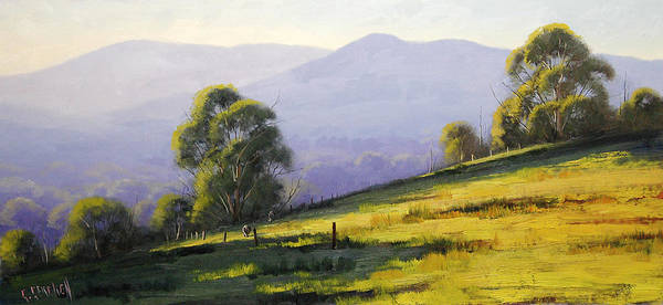 Australian Poster featuring the painting Australian Landscape by Graham Gercken