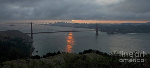 San Francisco Poster featuring the photograph San Francisco On Cloudy Sunrise by Matt Tilghman