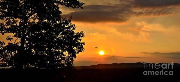Mountain Poster featuring the photograph Sundown In Ellijay by Carol Bradley
