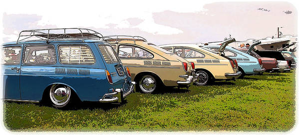 Volkswagen Poster featuring the photograph Vw Row by Steve McKinzie