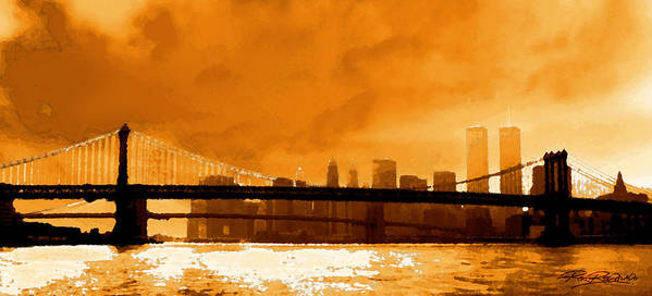 Twin Towers Poster featuring the photograph Majestic Skyline by Ron Regalado