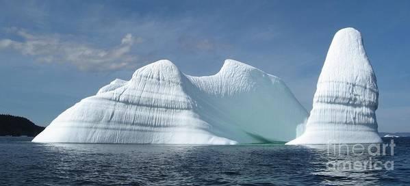 Iceberg Photograph Ice Water Ocean Sea Atlantic Summer Newfoundland Poster featuring the photograph Iceberg by Seon-Jeong Kim
