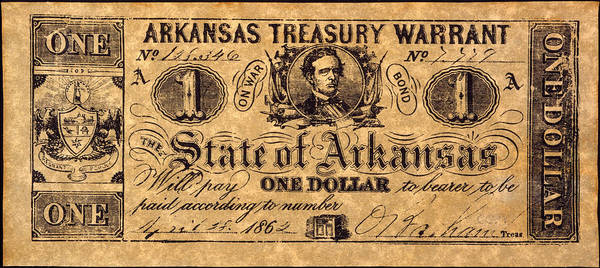 1862 Poster featuring the photograph Confederate Banknote by Granger