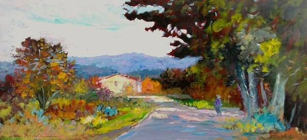 Painting Poster featuring the painting Country Road - Tuscany by Biagio Chiesi