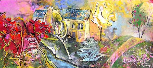 Landscape Painting Poster featuring the painting La Provence 11 by Miki De Goodaboom