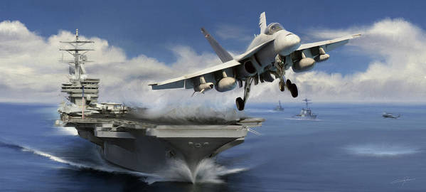 F-18 Poster featuring the digital art Launch by Dale Jackson