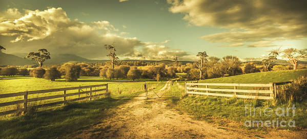 Farm Poster featuring the photograph Outback Country Paddock by Jorgo Photography - Wall Art Gallery